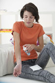 WOUND CARE, WOMAN — Foto Stock