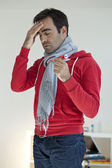 MAN WITH FEVER — Stock Photo
