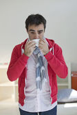 MAN WITH RHINITIS — Foto Stock