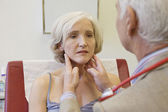 LYMPH NODE, ELDERLY PERSON — Stock Photo