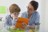 CHILD IN SPEECH THERAPY — Stock Photo