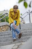 Ból nóg u kobiety — Zdjęcie stockowe