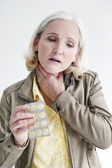 Woman with a sore throat — Stock Photo
