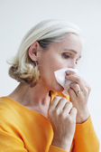 Woman rhinitis — Stock Photo
