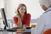 WOMAN IN CONSULTATION, DIALOGUE — Stock Photo