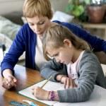 CHILD DOING HOMEWORK — Stock Photo #44402127