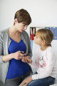 DIABETES CONSULTATION FOR CHILD — Foto Stock