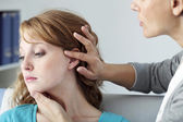 DERMATOLOGY CONSULTATION WOMAN — Foto Stock