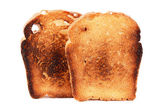 Toast fried closeup isolated on white — Foto Stock