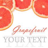 Heldere grapefruit geïsoleerd op witte achtergrond — Stockfoto