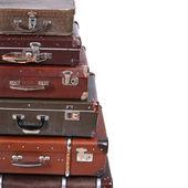 Old suitcase isolated on white background — Stock Photo