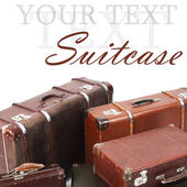 Stare walizki na białym tle — Zdjęcie stockowe