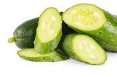 Fresh cucumber isolated on white background — Stock Photo