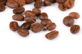 The coffee beans isolated on white — Stock Photo
