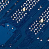 The details motherboard as a background — Stock Photo