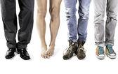 4 paires de pattes avec un nu — Photo