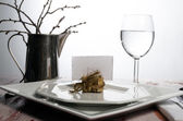 Casual rustic place setting — Stock Photo