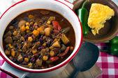 Spicy vegetarian chili — Stock Photo
