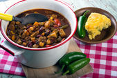 Spicy vegetarian chili — Stock Photo