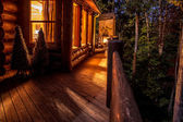 Cabin at Night — Stock Photo