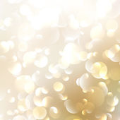 Gyllene abstrakt bokeh bakgrund. — Stockvektor