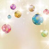 Fundo com bolas de natal. — Vetorial Stock