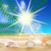 Seaside view poster. — Stock Vector