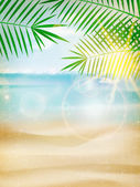 Vintage seaside view poster. — Stock Vector