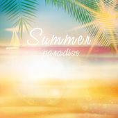 Summer calligraphic design template. — Stock Vector