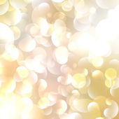 Gold Colored Abstract Lights Background. — Stock Vector