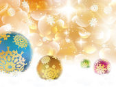 Christmas background with baubles and copyspace. — Stock Vector