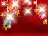 Рождественский фон с безделушками. — Cтоковый вектор