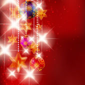 Christmas background with baubles. — Stock Vector