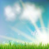 与绿草背景. — 图库矢量图片