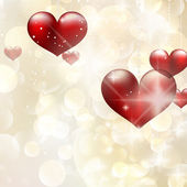 Elegant red billboard with hearts. EPS 10 — Vector de stock