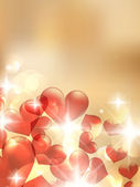 Valentine bokeh light background. — Vector de stock