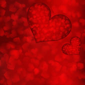 Valentine's day background with hearts. — Vector de stock