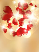 Valentines Red Abstract. — Stockvector
