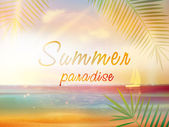 Summer time background with copyspace. — Stock Vector