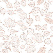 Seamless autumn leaves pattern template. — Vetorial Stock
