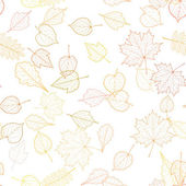 Seamless autumn leaves pattern template. — Stock Vector