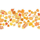 Autumn background with colorful leaves. — Stock Vector