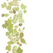 Jesień tło z kolorowych liści. — Wektor stockowy