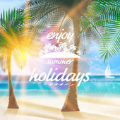 Summer typography holidays template. — Stockvector