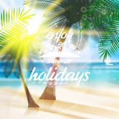 Summer typography holidays template. — Vetorial Stock
