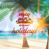Summer typography holidays template. — Stok Vektör