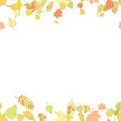 Seamless autumn leaves pattern. — Stock Vector