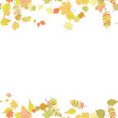 Seamless autumn leaves pattern. — Stock Vector