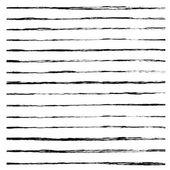 Satz von schwarz pinselstriche. — Stockvektor