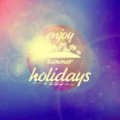 Summer holidays sunset with defocused lights. — 图库矢量图片